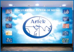 Artek Chemicals entrance panel